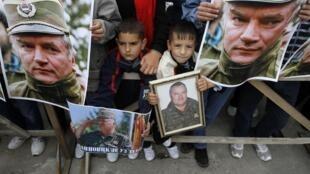 Rassemblements de soutien à Ratko Mladic à Kalinovik, son village natal.