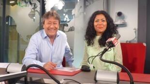 Lissell Quiroz y Jordi Batallé en RFI