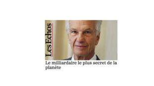 """""""O milionário mais discreto do mundo"""", intitula o jornal francês Les Echos, falando do empresário brasileiro, Jorge Paulo Lemann."""