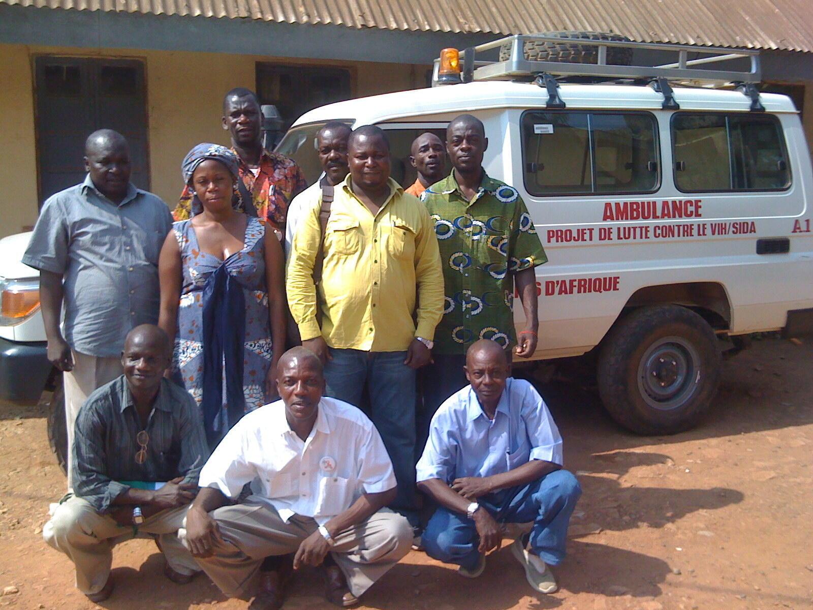 Les membres de l'ONG Amis d'Afrique à Boy-Rabe