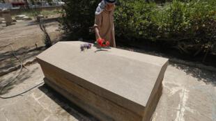 Foto tomada el 18 de mayo de mai 2021 en Bagdad de la tumba de la británica Gertrude Bell, artífice de la formación del Irak moderno