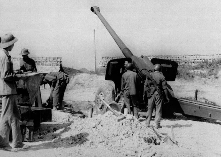 Ảnh tư liệu chụp ngày 03/03/1979 : Một đơn vị pháo Việt Nam tại tỉnh Lạng Sơn trong cuộc chiến tranh chống quân xâm lược.
