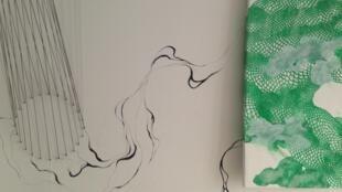Detalhe da exposição Panor'almas, em Paris.