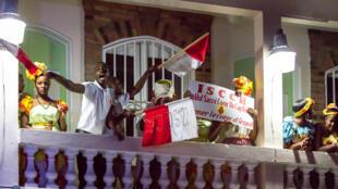 Fête de la Francophonie : des supporters venus du Cap-Haïtien ont assisté à la finale du concours national de chanson francophone à l'Institut français en Haïti, le 23 mars 2016.
