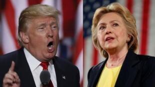 លោកស្រី  Hillary Clinton  និង លោក Donald Trump