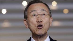 Le secrétaire général de l'ONU Ban Ki-moon, le 16 juin 2011 à Brasilia.