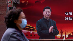 疫情中的中國上海街頭資料圖片