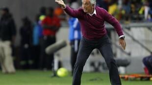 Le sélectionneur de l'Algérie, Halilhodzic Vahid, lors du match amical contre l'Afrique du Sud, le 12 janvier 2013.