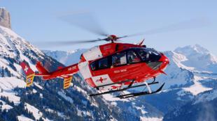 Un EC145 de la Garde aérienne suisse de sauvetage.