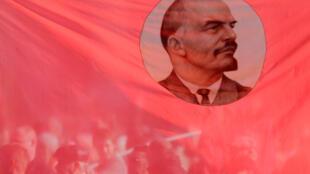 Vladimir Lenin, nhà lãnh đạo Bôn-sê-vich.