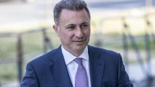 L'ancien Premier ministre macédonien Nikola Gruevski, en octobre 2018.