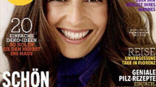 Couverture du magazine féminin allemand Brigitte.