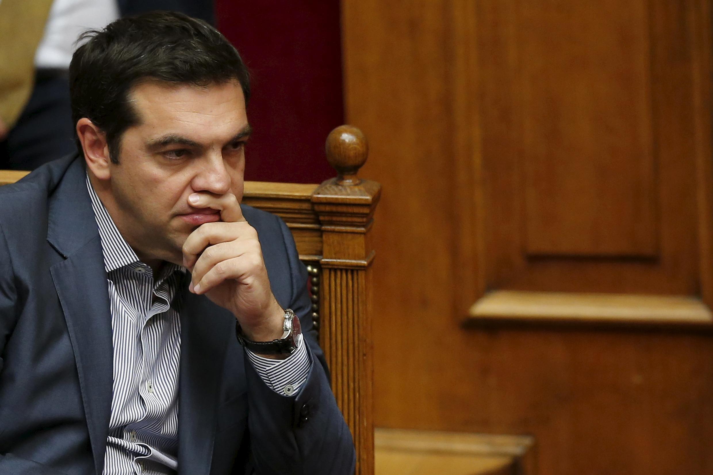 Alexis Tsipras au Parlement grec, le 11 juillet 2015.