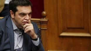 Alexis Tsipras au Parlement grec samedi 11 juillet. Le Parlement doit valider un premier train de réforme avant jeudi.