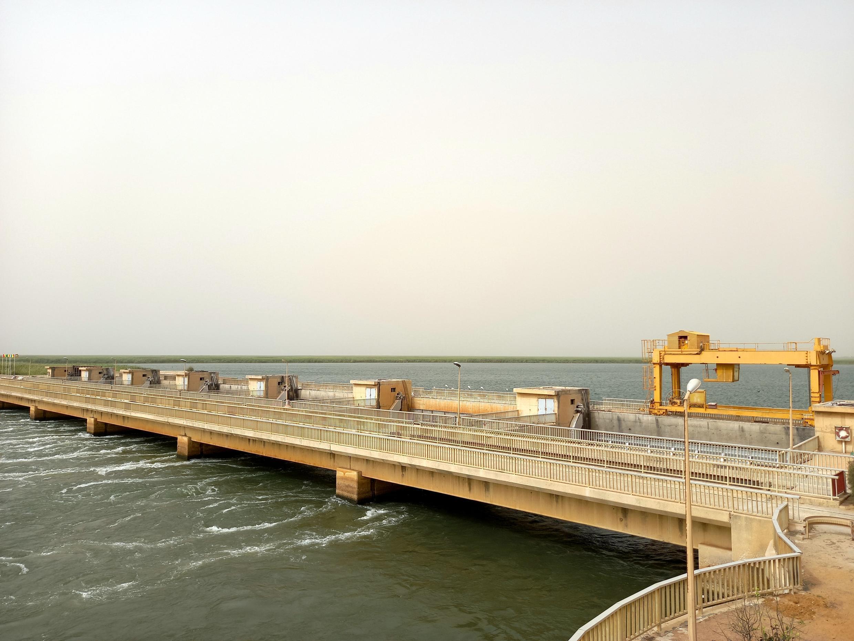 Le barrage de Diama, le 4 juin