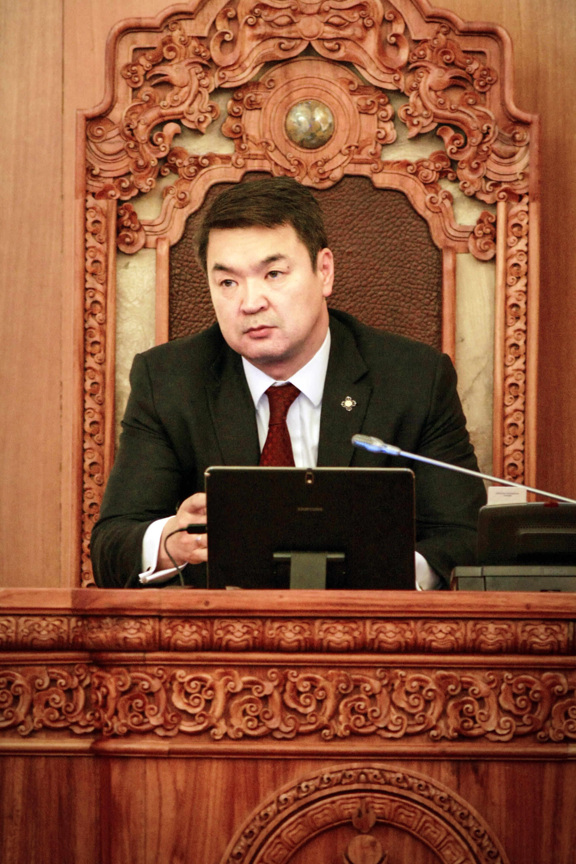 Le Premier ministre de Mongolie, Chimed Saikhanbileg, le 21 novembre 2014.
