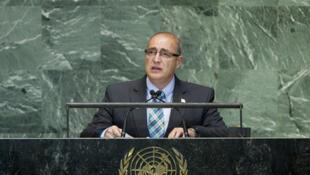 El vicecanciller ecuatoriano Marco Albuja en la tribuna de las Naciones Unidas