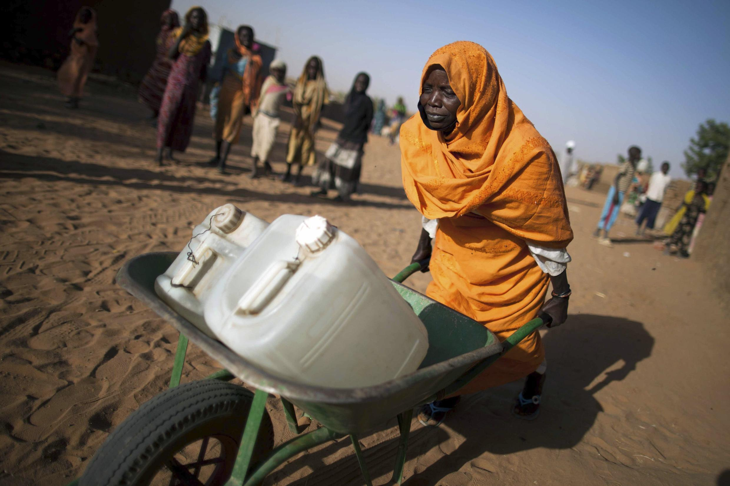 The Abu Shouk camp for internally displaced people in El-Fasher, North Darfur