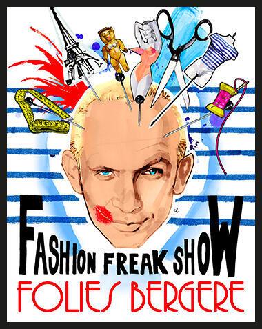 Jean Paul Gaultier présente sa « Fashion Freak Show » aux Folies Bergère, Paris.