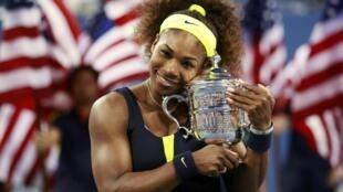 Serena Williams after defeating Victoria Azarenka of Belarus
