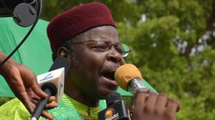 Tsohon shugaban jamhuriyar Nijar Mahamane Ousmane, yayin wata zanga-zanga a birnin Yamai.