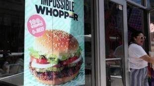 Bảng quảng cáo ''Impossible Whopper'' tại New York, Mỹ, tháng 09/2019