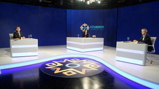 Le candidat de la gauche bolivarienne Andres Arrauz s'est opposé au conservateur Guillermo Lasso le 21 mars, lors du débat télévisé en amont du second tour.