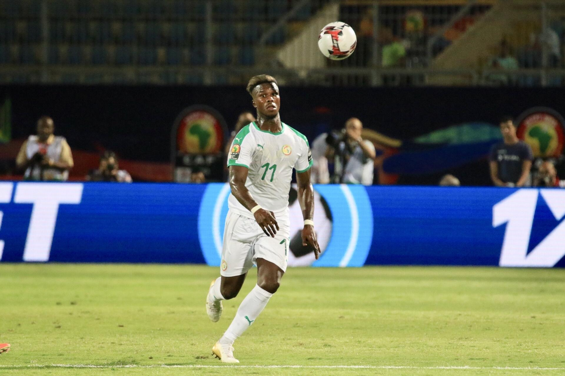 Keita Balde scored Senegal's first goal in the 2019 Africa Cup of Nations.