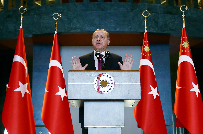 O Presidente da Turquia, Recep Tayyip Erdogan.
