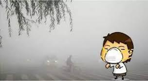 圖為中國網絡關於霧霾的漫畫