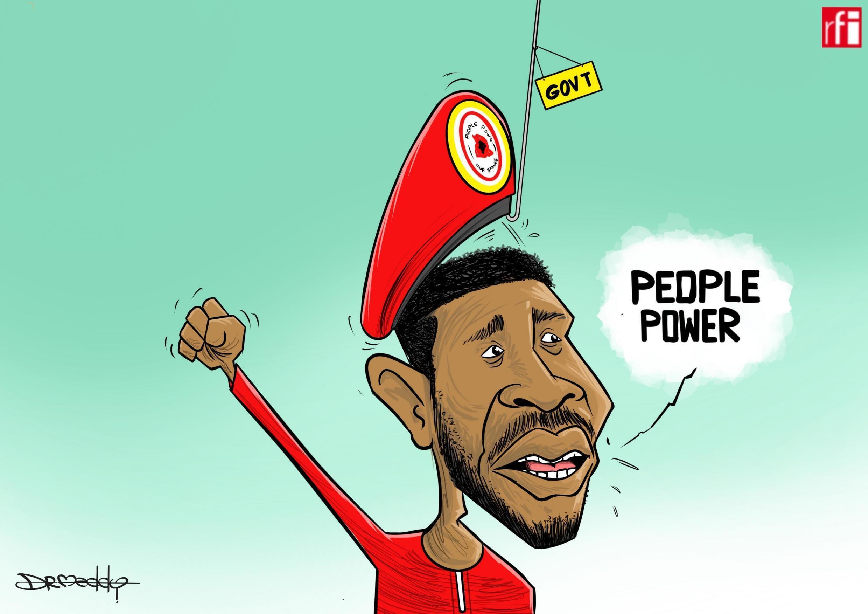 Hukumomin Uganda sun haramta jar hular da ke zama alama ta shaharren mai adawa da gwamnatin kasar, Bobi Wine ke sawa (03/10/2019)
