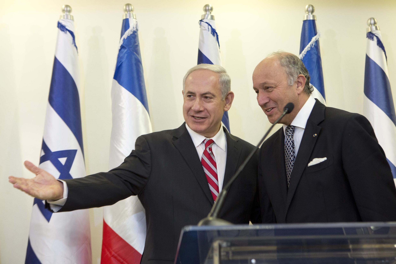 Лоран Фабиус и Беньямин Нетаньяху в Иерусалиме, 25 августа 2013 г