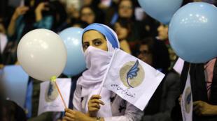 Một cuộc vận động tranh cử tại Teheran, Iran ngày 18/02/2016