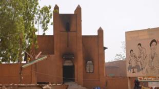 Une église pillée et incendiée par les manifestants lors des émeutes du 17 janvier, à Niamey.