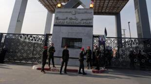 Le point de passage de Rafah avec la bande de Gaza, le 18 novembre 2017, au premier jour de la réouverture.