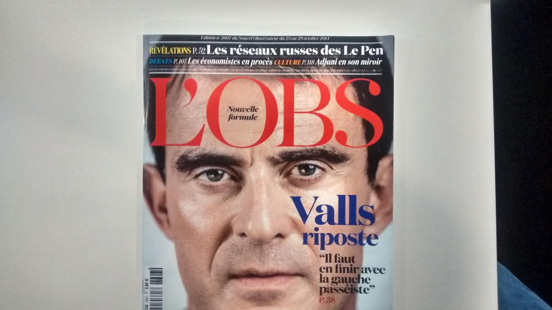 Capa da edição da revista Nouvel Observateur desta semana.