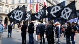 تظاهرات یک گروه راست افراطی در پاریس - ٢٠١۶