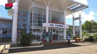 L'hôpital de Tanambao, en plein coeur de Diego Suarez, à Madagascar, est le centre de référence chargé d'accueillir les patients atteints du Covid-19 de toute la région, le 14/09/2020.
