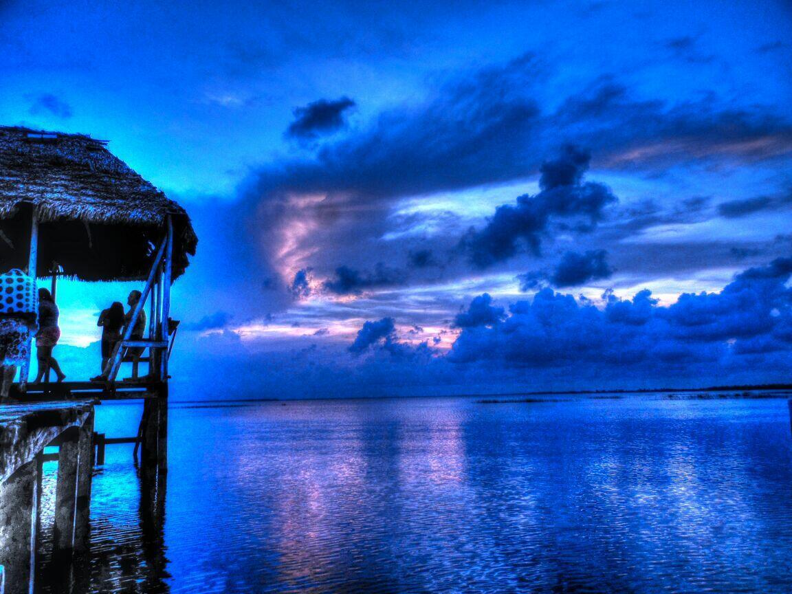 Vista de la laguna en Puerto Lempira, Gracias a Dios (Moskitia Hondureña).