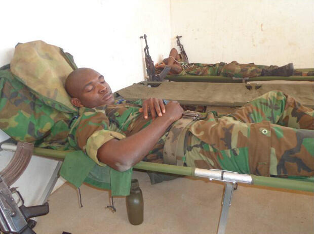 Downtime during officer training in Cote d'Ivoire.