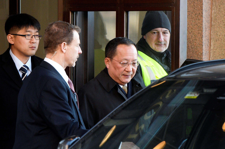 朝鮮外相李勇浩啟程離開瑞典資料圖片