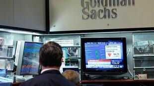 Le bureau de la banque américaine Goldman Sachs à la bourse de New York.