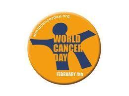 Logo do dia Mundial contra o Cancro, 4 de Fevereiro de 2015.
