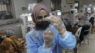 Premier jour de la campagne de vaccination à Ramallah
