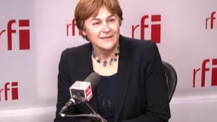 Dominique Voynet, maire de Montreuil et porte-parole de la candidate Eva Joly.