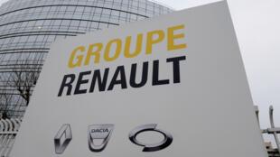 Le siège de Renault à Boulogne-Billancourt, près de Paris, 24 janvier 2019.