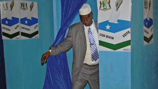 Photo prise dans un bureau de vote lors de la présidentielle du 8 janvier 2014, à Garowe, capitale du Puntland.
