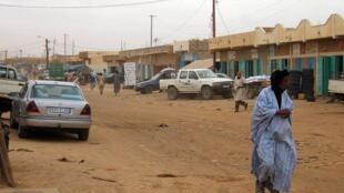 Une des rues de la ville d'Aleg, capitale de la région du Brakna, au sud-ouest de la Mauritanie.