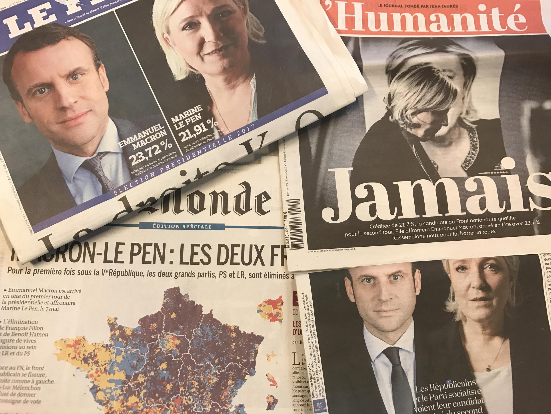 Capas dos diários franceses 24/04/2017