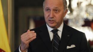 French foreign miniser Laurent Fabius